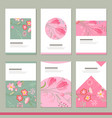 set with six floral romantic templates tulips and vector image vector image