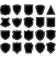 shield blank silhouette emblems elements vector image