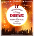 Shining christmas typographical background vector image vector image