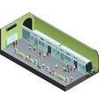 Subway Station Isometric vector image vector image