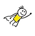 super hero hand drawing in cartoon style vector image vector image