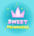 sweet princess birthday greeting card vector image vector image