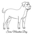 swiss mountain dog outline vector image vector image