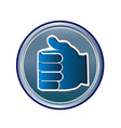 thumbs up like icon vector image vector image