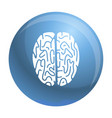 top view brain icon simple style vector image
