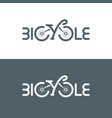 typographic bicycle logo vector image vector image
