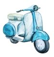 Watercolor vintage scooter vector image vector image