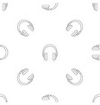 wired headphones pattern seamless vector image vector image
