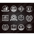 Photo Industry Chalkboard Emblems Set vector image