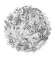 Beautiful monochrome floral pattern in vector image