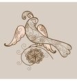 Bird ornament vector image