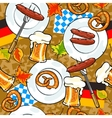 Oktoberfest background seamless pattern vector image