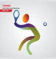 tennis color sport icon design template vector image