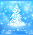 abstract christmas tree made of white stars on vector image