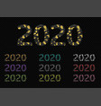 2020 broken colored numbers vector image vector image