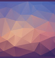 abstract triangle background in blue tones vector image vector image