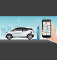 application for carsharing vector image vector image
