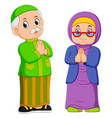 are greeting forgiveness ied mubarak vector image vector image