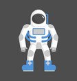 astronaut isolated cosmonaut on white background vector image