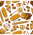 Bakery and patisserie seamless background vector image vector image