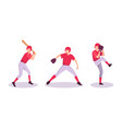 baseball sport athlete concept vector image