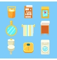 Bathroom Objects Set vector image vector image