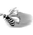 bee in flight vector image vector image