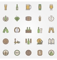 Beer colorful icons set vector image