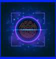 biometric fingerprint scan for access to vector image vector image