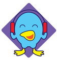 Bird Listening Music vector image vector image