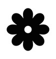 black flower symbol vector image vector image