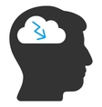 Brainstorming Flat Icon vector image
