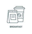 breakfast with you line icon linear vector image