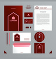 burgundy and pink color branding set vector image vector image