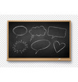 chalked speech bubbles on school board vector image