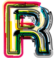 Colorful Grunge font LETTER R vector image vector image