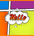 Comic collection colored sound chat text effects