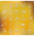 cooking outline icons vector image vector image