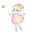 Cute fairy dancing girl little ballerina vector image