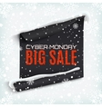 Cyber Monday sale curved paper banner on winter vector image