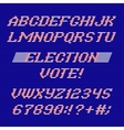 Election day font and numbers vector image vector image