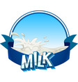 Fresh milk with text on banner vector image vector image