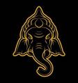 Ganesha Drawing vector image vector image