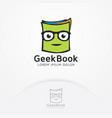 geek book logo vector image vector image