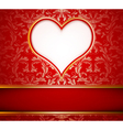 greeting card with heart vector image