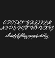 handwritten calligraphic font with vintage vector image