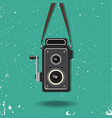 hanging old camera vector image vector image