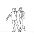 happy loving couple dancing vector image vector image