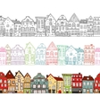 Houses Seamless Compositions vector image vector image