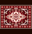 indian rug persian textile carpet design royal vector image vector image